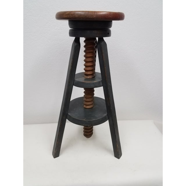 Vintage English Adjustable Stool For Sale - Image 13 of 13