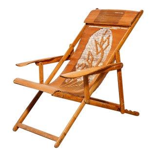 Folding Bamboo Beach Chair For Sale