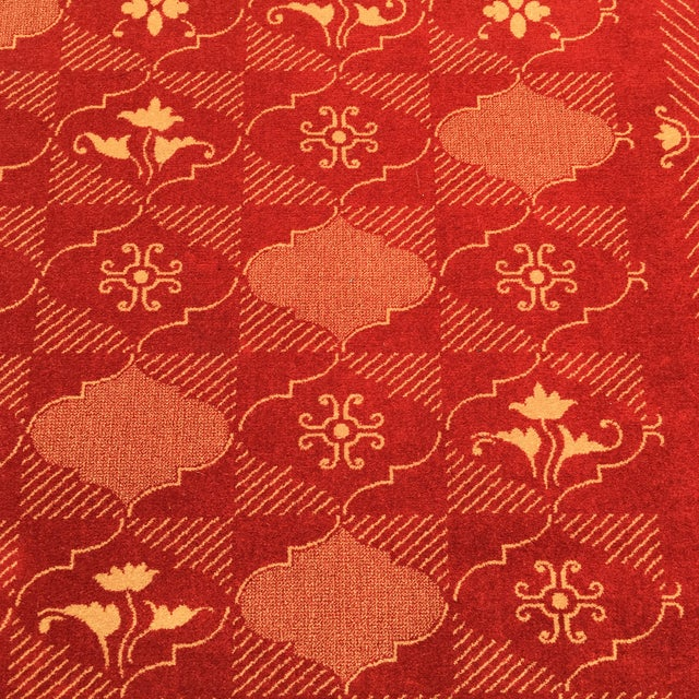 Textile Prado Epos Red Wool Area Rug - 6′6″ × 9′10″ For Sale - Image 7 of 8