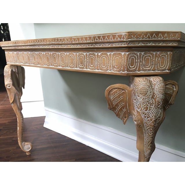 Hand-Carved Elephant Console Table - Image 7 of 11