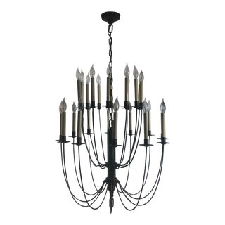 Thomas O'Brien Double Tier Chandelier For Sale