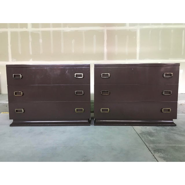 1940s Art Deco Lacquered Chests - a Pair For Sale - Image 12 of 12