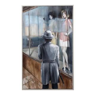 Original Modern Art Oil Painting - Shop Window For Sale