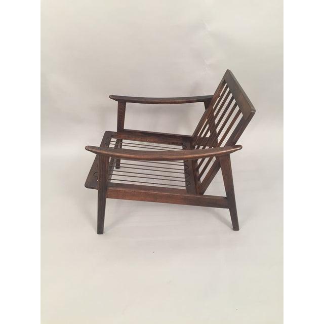 Mid-Century Modern Restored Arm Chair Velvet Cushions - Image 8 of 11