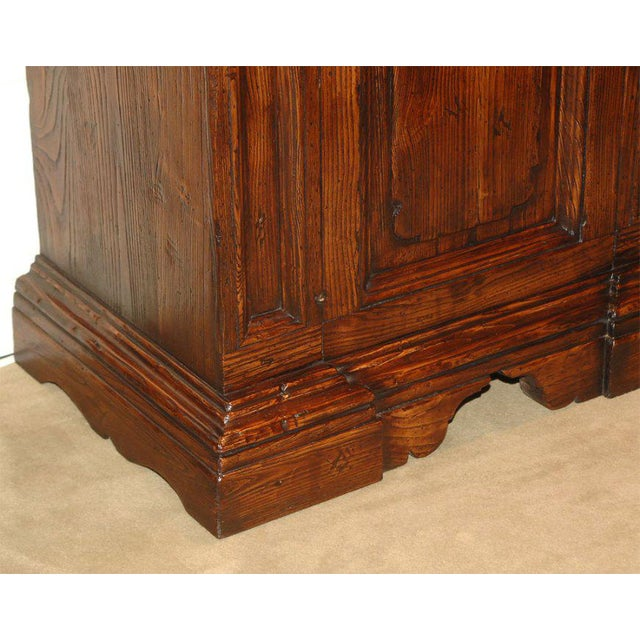Vintage Italian Elm Baroque Style Cabinet For Sale - Image 4 of 7