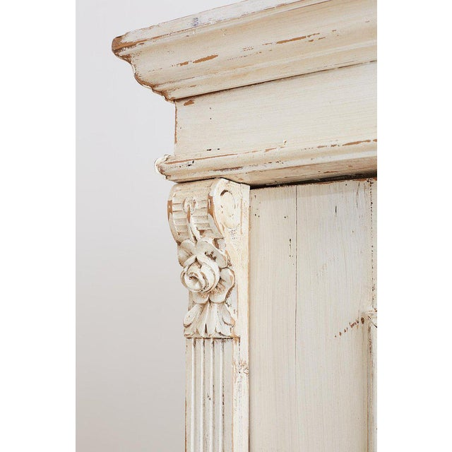 Brass Swedish Gustavian Style Pine Bibliotheque Bookcase For Sale - Image 7 of 13