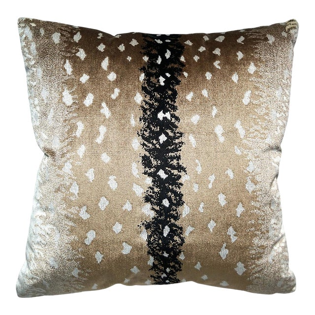 Scalamandre Antelope Pillow, Natural For Sale