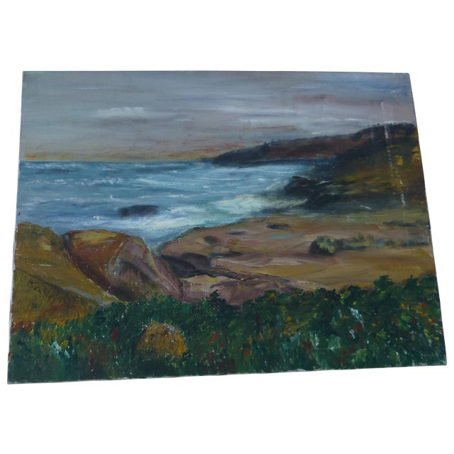 George St. Pierre Ocean View Signed Painting For Sale