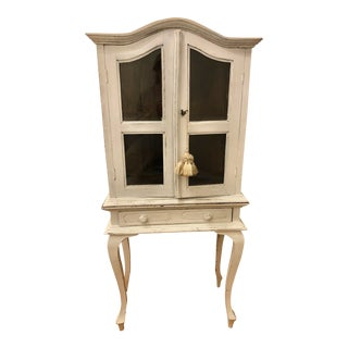 19th Century Victorian Wood and Glass Secretary Cabinet For Sale