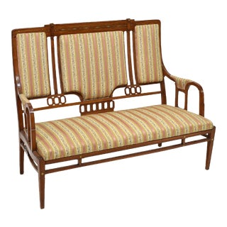 Art Nouveau Settee Sofa in the Style of Iberto Issel For Sale