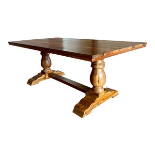 Pottery Barn Bowry Reclaimed Solid Wood Dining Table For Sale