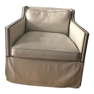 McGuire Leather Chair For Sale