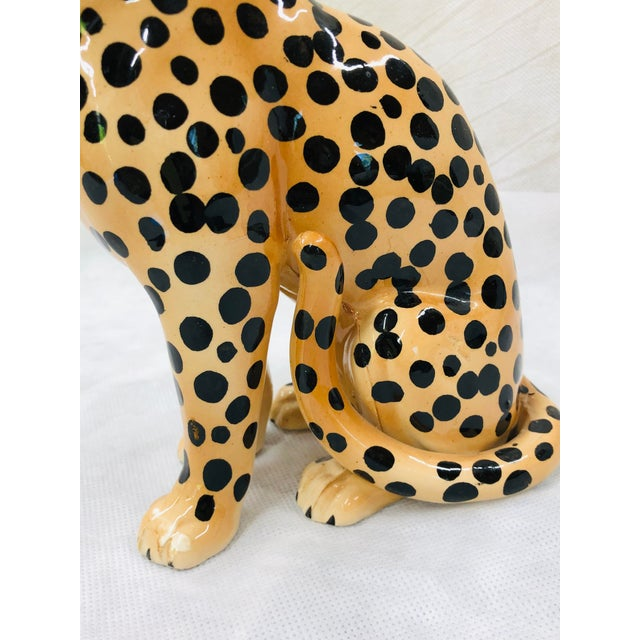 Realism 1970s Ceramic Cheetah Figurine For Sale - Image 3 of 9