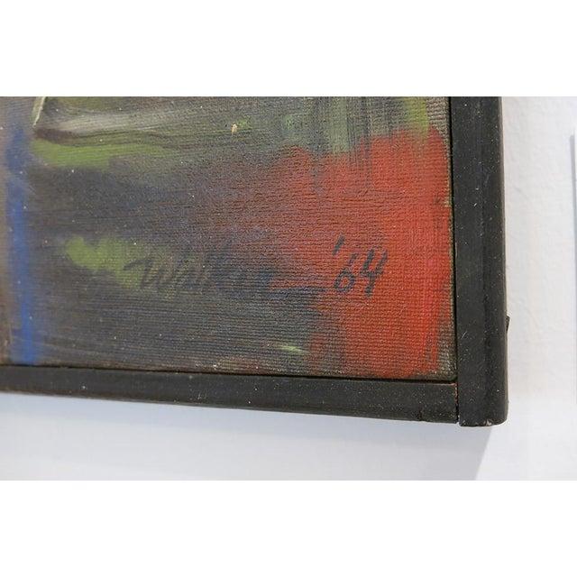 Vintage Jerome Walker, Abstract Oil on Canvas, Framed For Sale In Atlanta - Image 6 of 7