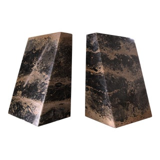 Vintage Marble Bookends -A Pair For Sale