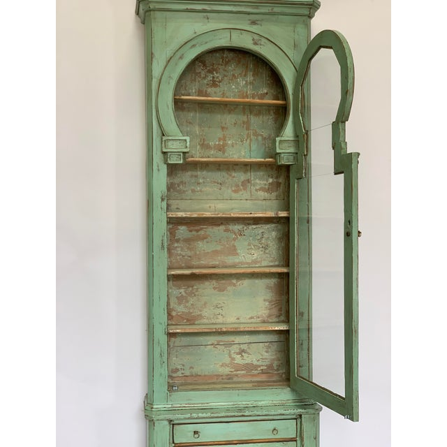 19th Century Spanish Green Pharmacy Cabinet For Sale In San Antonio - Image 6 of 12