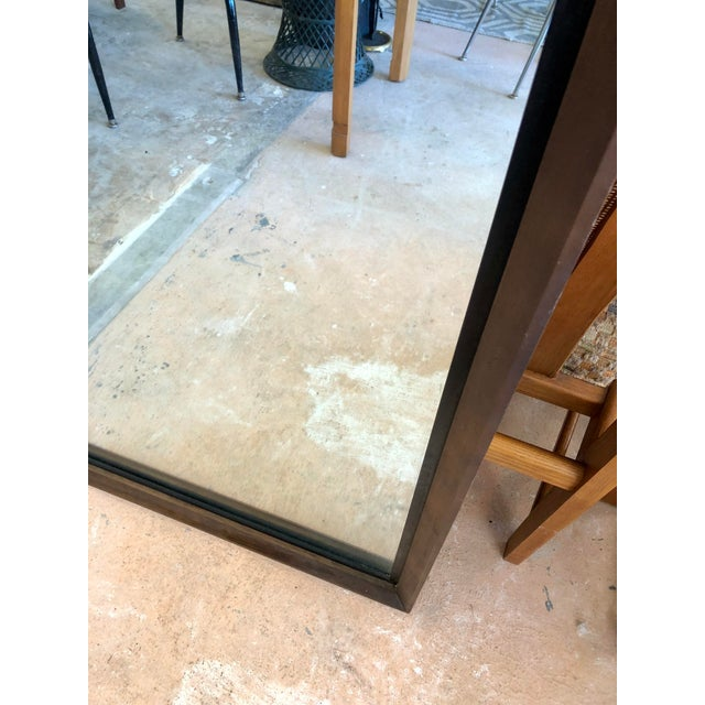 Mid-Century Modern Bassett Mid-Century Black & Walnut Mirror For Sale - Image 3 of 7