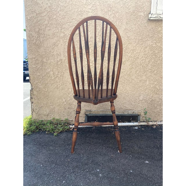 Farmhouse Antique Windsor Side Chair For Sale - Image 3 of 12