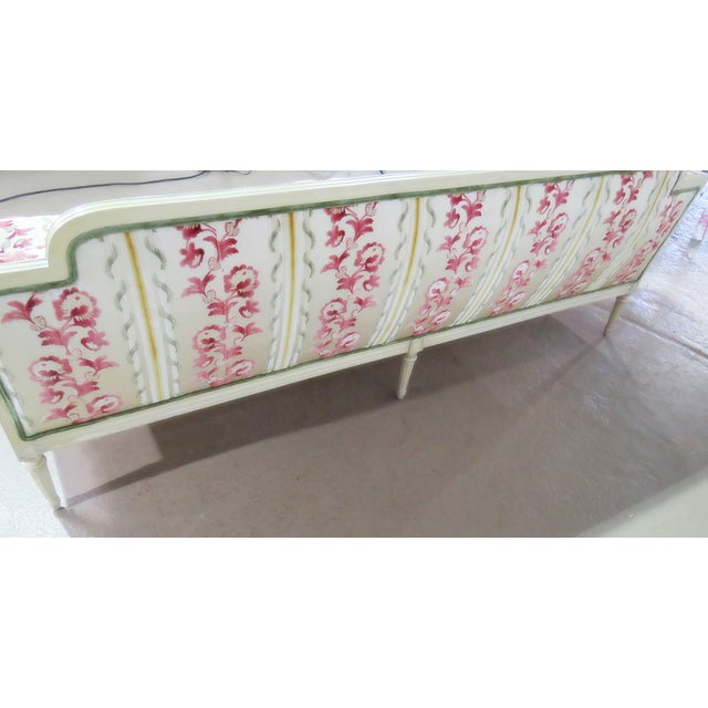 Mid 20th Century Flair Decorators Inc Louis XV Style Sofa For Sale - Image 5 of 8