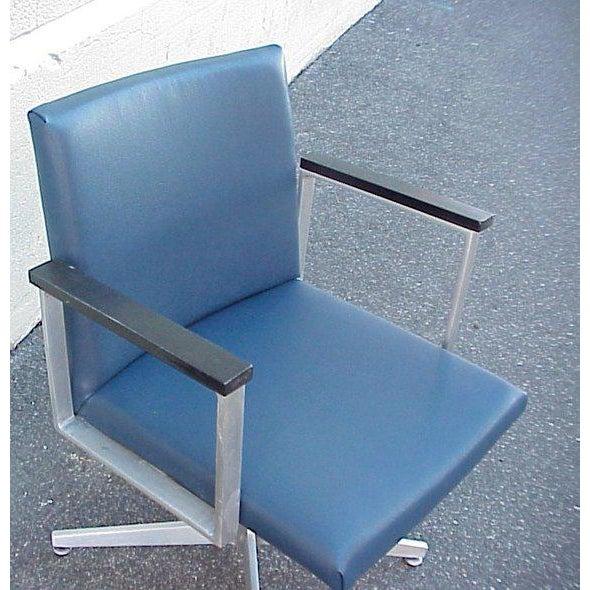 Mid-Century Modern 1960s Vintage Mid-Century Goodform Aluminum Armchair For Sale - Image 3 of 6