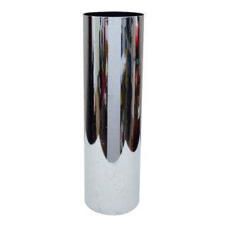 Peter Pepper Mid-Century Modern Tall Cylinder Ashtray Ash Can
