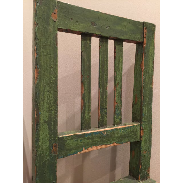 Boho Chic 1900s Antique European Wooden Side Chair For Sale - Image 3 of 6