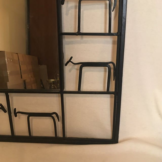 Rustic Cast Iron Animal Mirror For Sale - Image 3 of 6