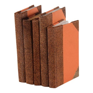 Hide Collection Spotted Brown Books - Set of 5 For Sale