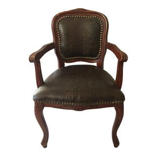 Miniature French Louis XV Bergere Style Antique Child's Chair