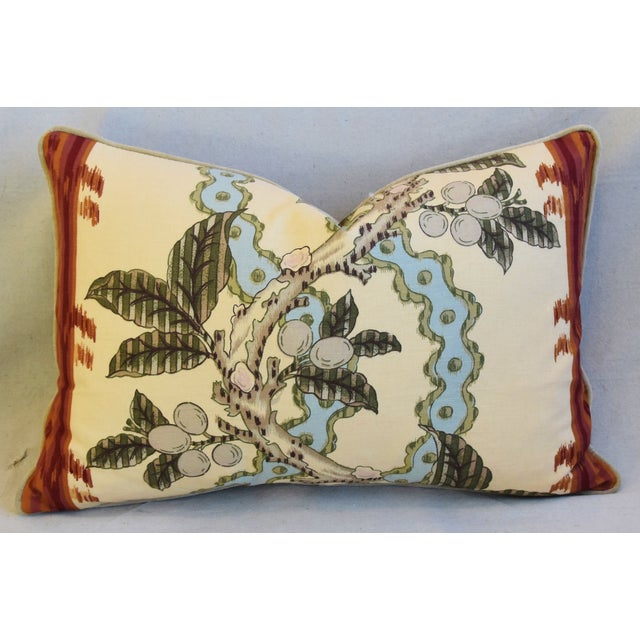 "Early 21st Century Brunschwig & Fils Josselin Feather/Down Pillows 26"" X 17"" - Pair For Sale - Image 5 of 13"
