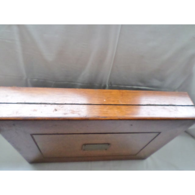 Antique Golden Oak Silver Chest /Service Box for Flatware For Sale In Columbia, SC - Image 6 of 11