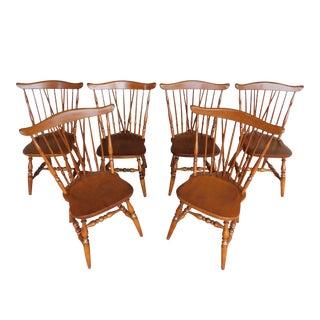 Sprague Carlton Brace Back Windsor Style Chairs - Set of 6 For Sale