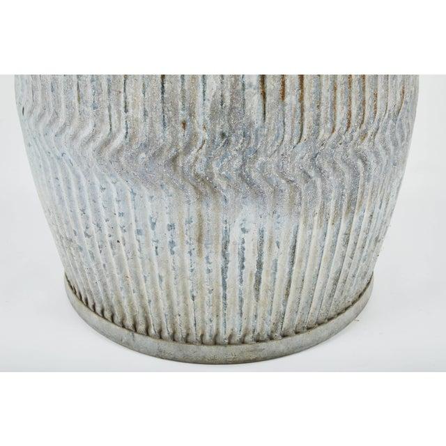1990s English Zinc Garden Pots - a Pair For Sale - Image 4 of 10
