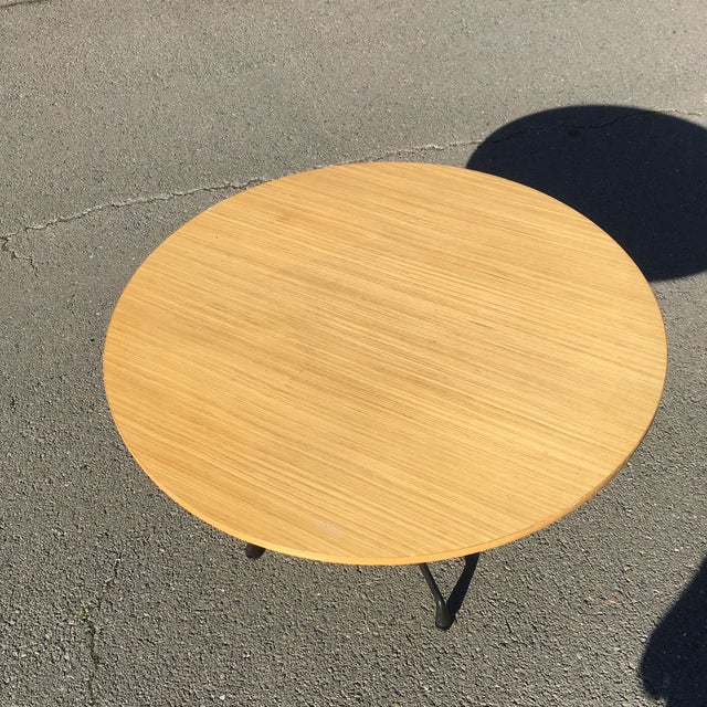 Wood Herman Miller Wooden Round Table For Sale - Image 7 of 10