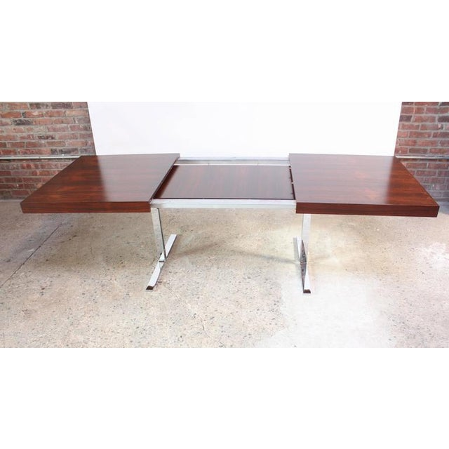 Danish Modern Poul Nørreklit Low Rosewood Extension Table for Georg Petersens For Sale - Image 3 of 10
