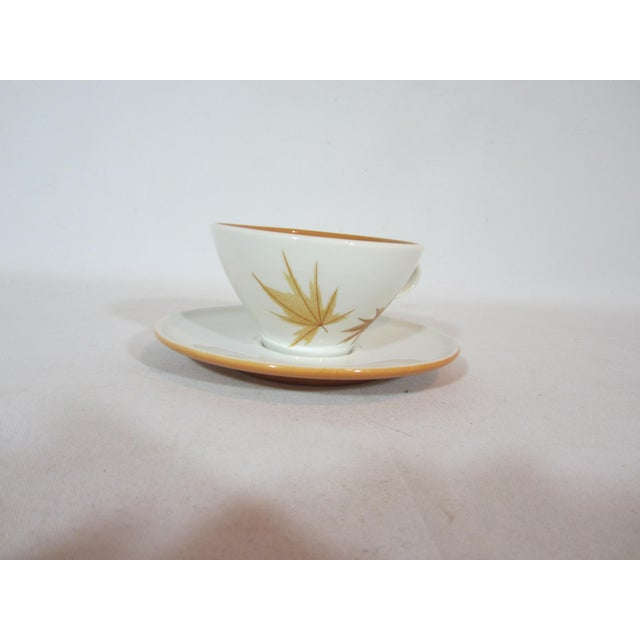Mid-Century Modern Mid-Century Iroquois China Cup and Saucers - Service for 10 For Sale - Image 3 of 7