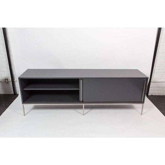 Black Re 379 Credenza in Wrought Iron With White Doors on Black Base For Sale - Image 8 of 13
