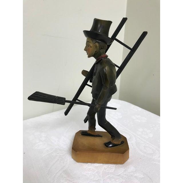 Boho Chic Vintage Anri Hand Carved German Chimney Sweep Wood Figurine For Sale - Image 3 of 12