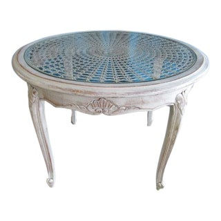 20th Century Louis XV Distressed Painted Occasional Table For Sale