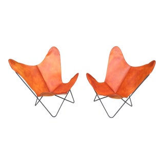 New Leather Vintage Bfk Butterfly Sling Chair Knoll Hardoy