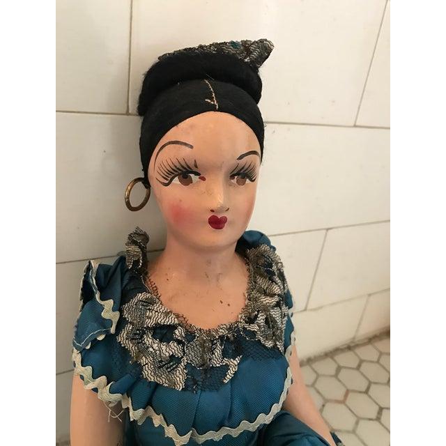 1920s Vintage Spanish Senorita Handmade Boudoir Doll For Sale - Image 9 of 11