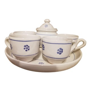 Last Call Blue & White Italian Espresso Set - Set of 7