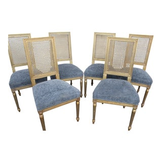 20th Century Vintage Louis XVI Style Dining Chairs - Set of 6 For Sale