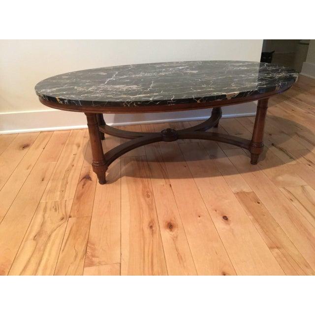 Marmi DI Carrara Marble Oval-Shaped Coffee Table - Image 3 of 5