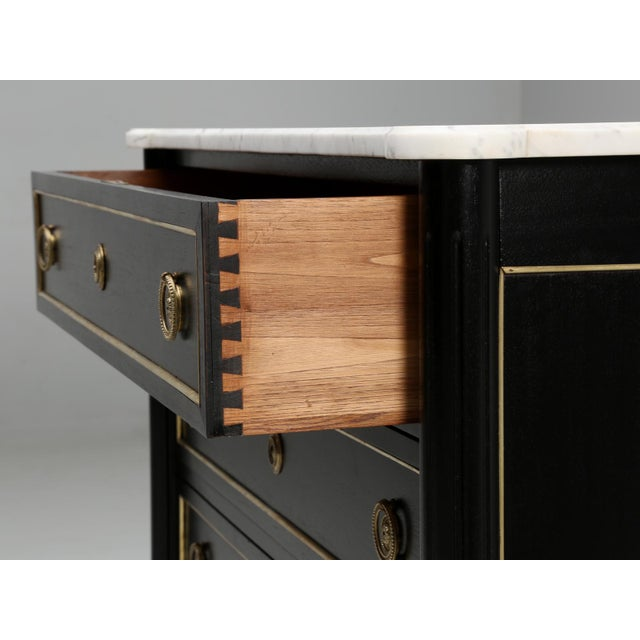 French Louis XVI Style Ebonized Mahogany Commode For Sale In Chicago - Image 6 of 11