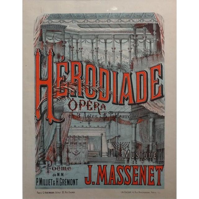 "Carnival ""Herodiade Opera De Jules Massenet"" Vintage French Poster C. 1910s For Sale - Image 3 of 8"