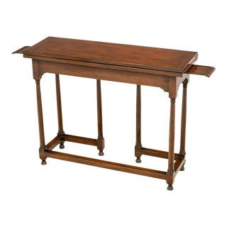 Vintage Kittinger Colonial Williamsburg Flip Top Spider Table For Sale