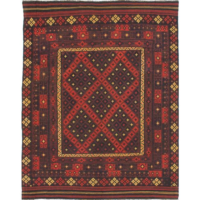 Kashkuli Persian Kilim - 7′10″ × 10′ - Image 1 of 2