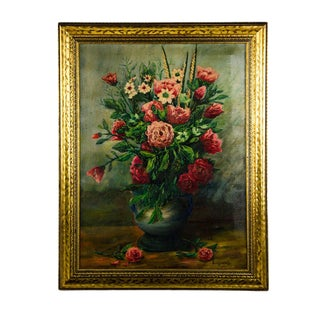 1948 Vintage Gudzowaty Oil on Canvas Still Life Painting For Sale