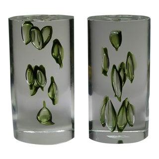 Mid-century Modern Antonio Da Ros Italian Glass Bookends c. 1960s